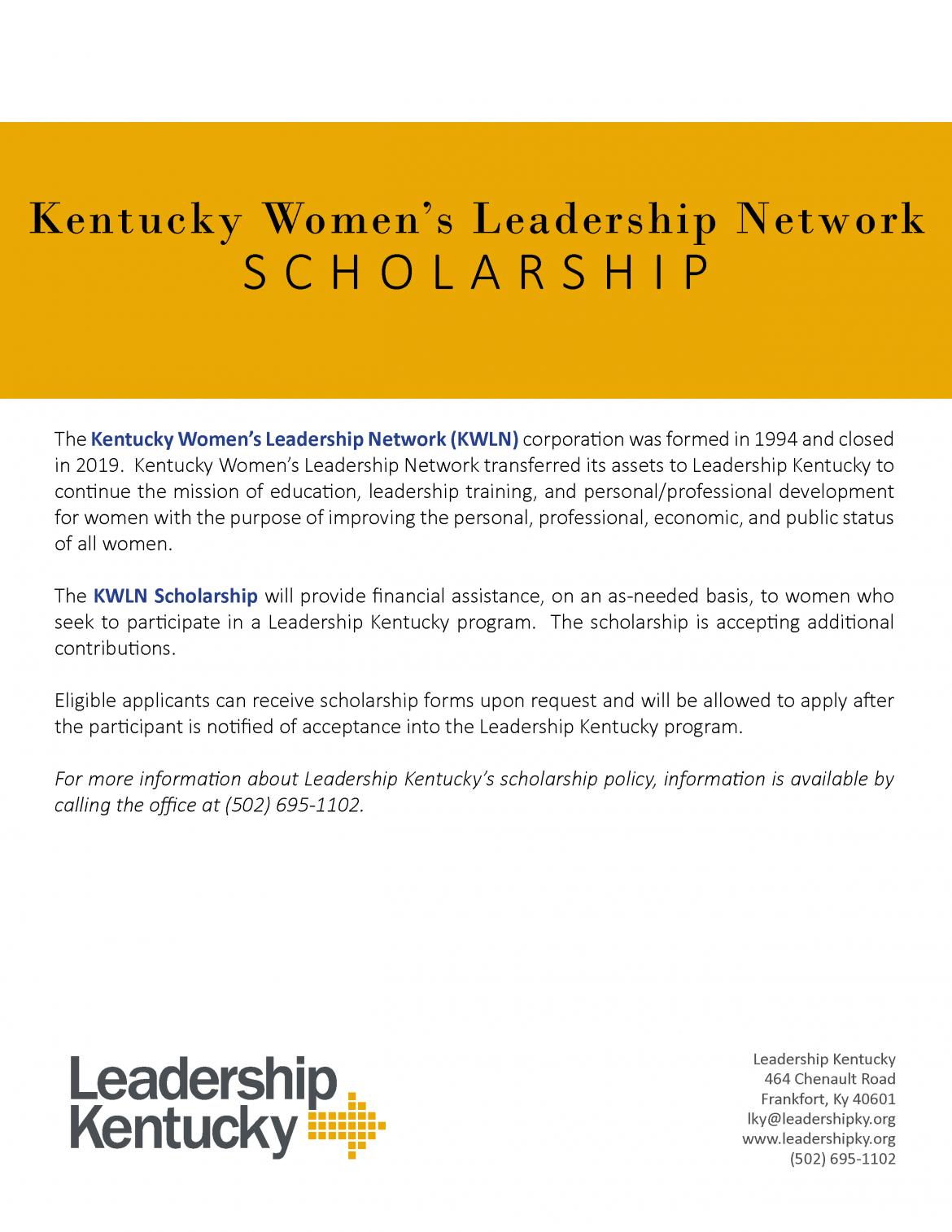 KWLN Scholarship